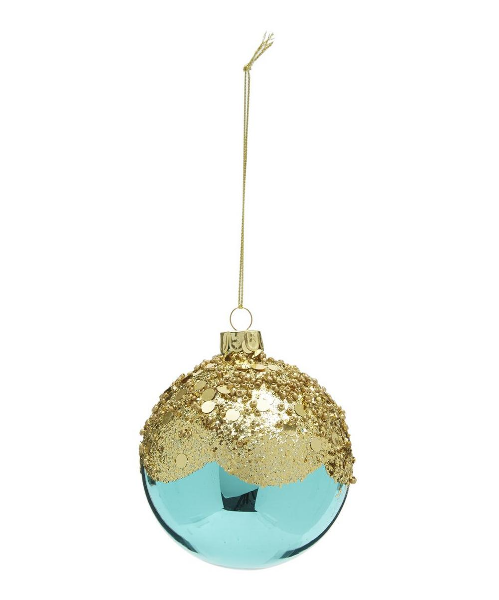 Glitter Turquoise Bauble
