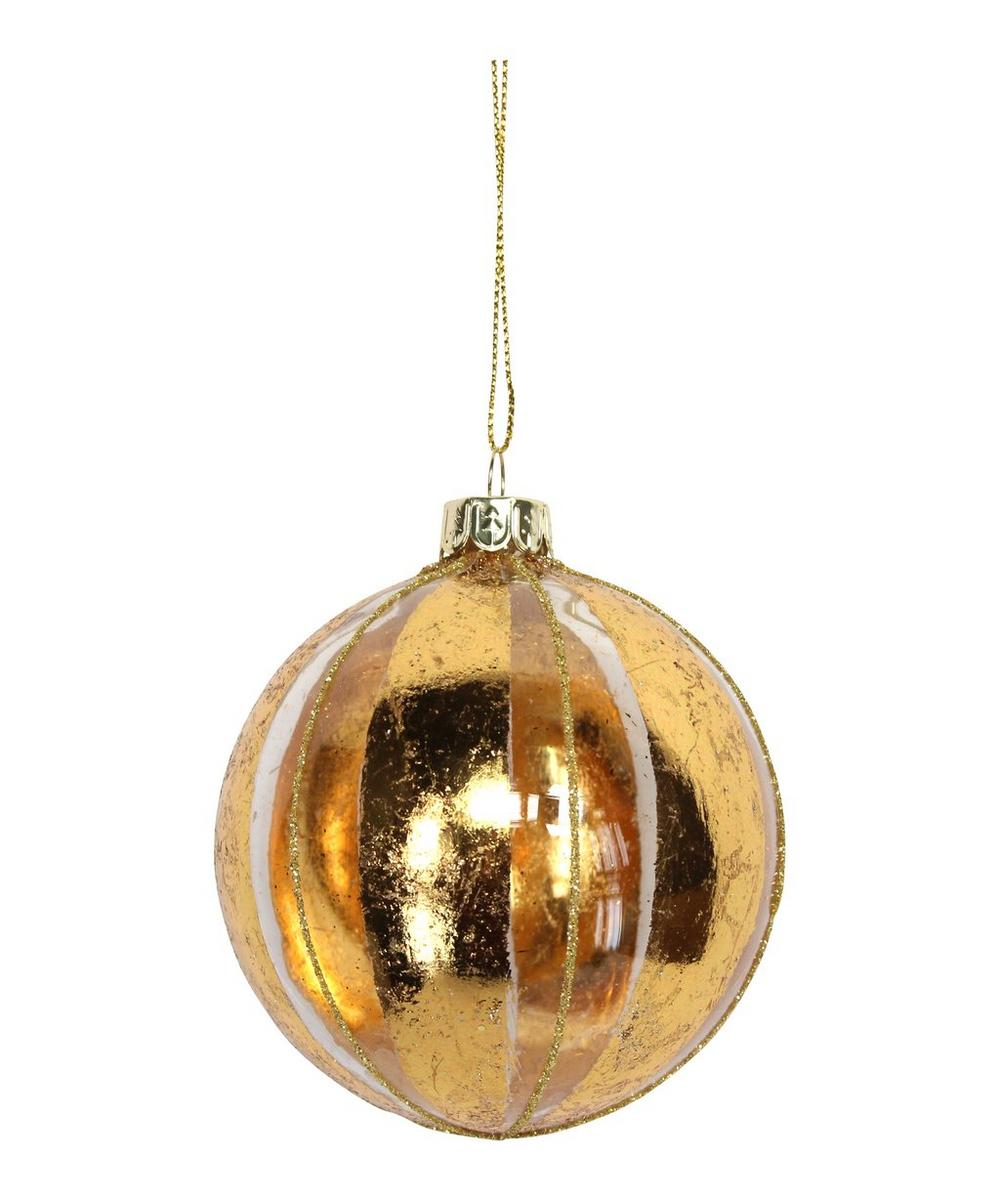 Clear Gold-Tone Leaf Bauble