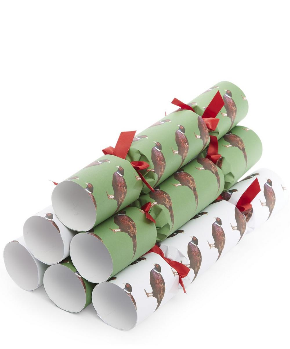 Pheasant Christmas Crackers Set of 6