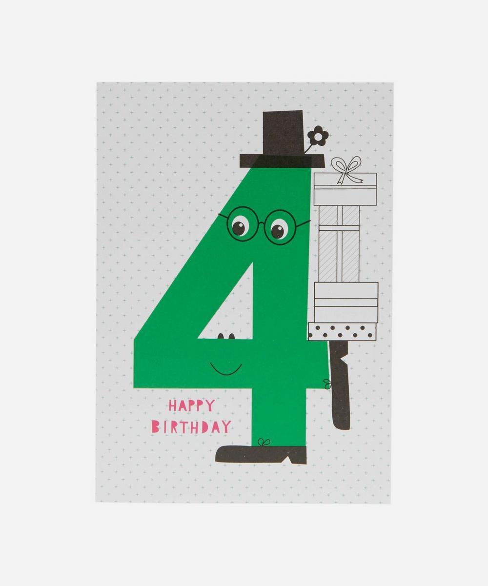 Happy Birthday Age 4 Card