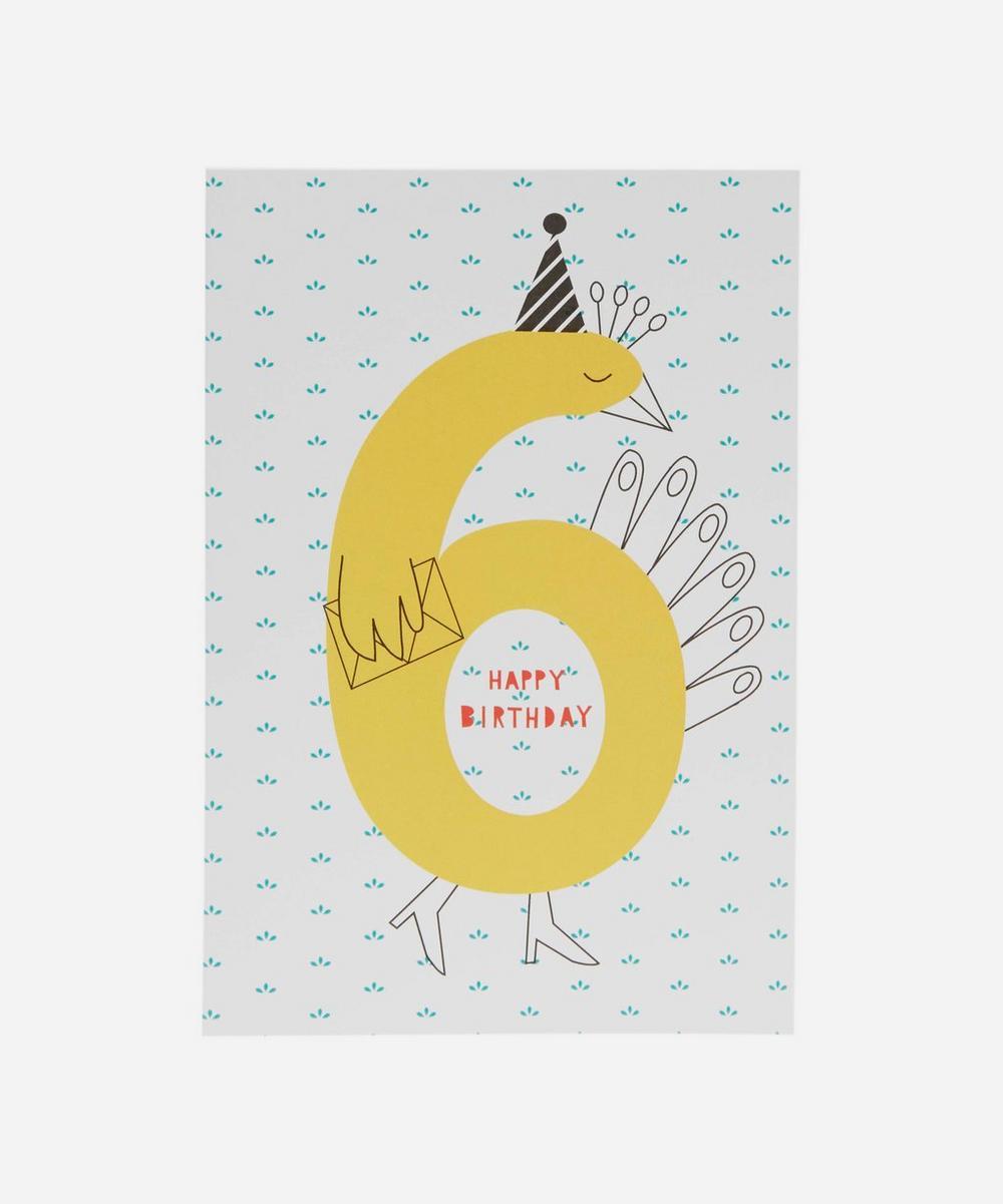 Happy Birthday Age 6 Card