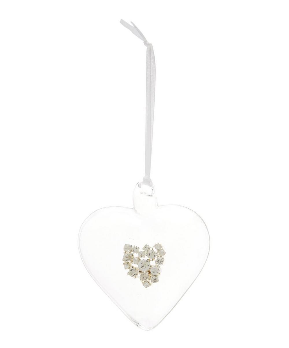 Hollow Glass Heart Decoration