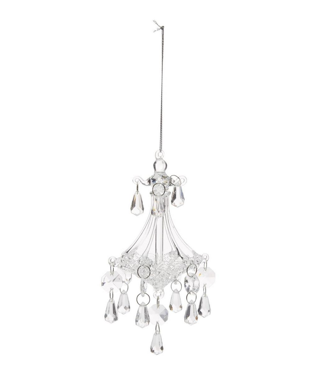 Clear Glass Chandelier Decoration