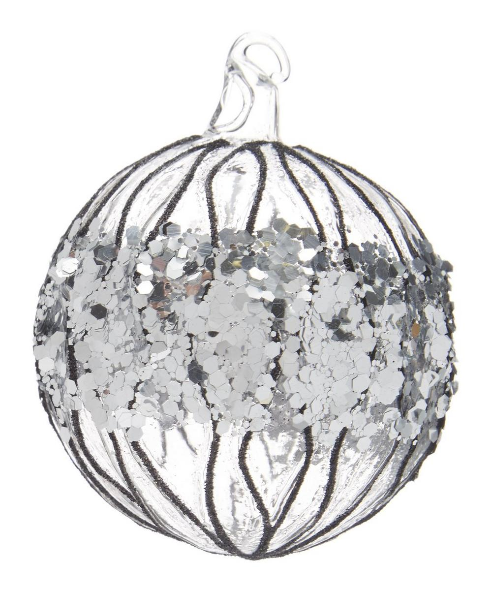Clear Glitter Sequin Bauble