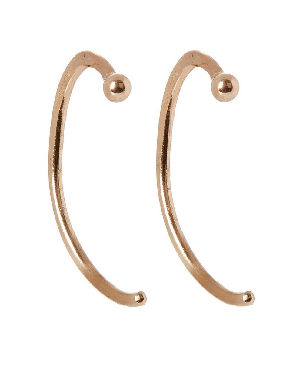 Angled Hug Hoop Earrings