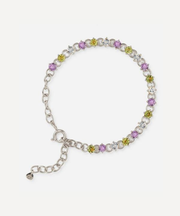 Suffragette Sterling Silver Gem Drop Bracelet