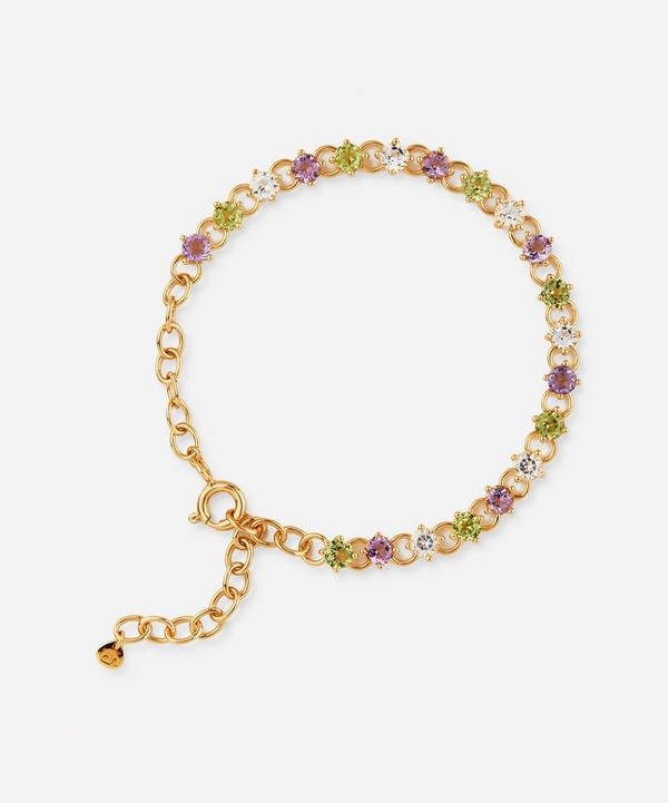 Suffragette Gold Vermeil Gem Drop Bracelet