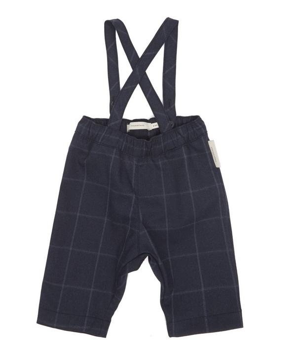 Grid Flannel Pants With Braces 0-18 Months