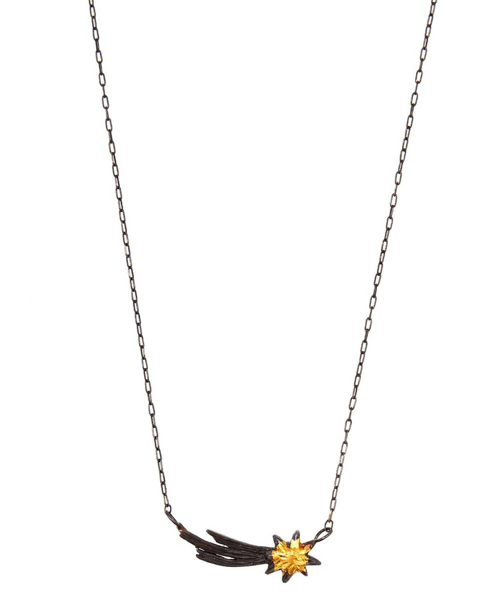 ACANTHUS OXIDISED SILVER SHOOTING STAR NECKLACE