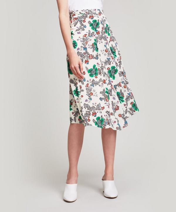 Cacia Floral Midi Skirt