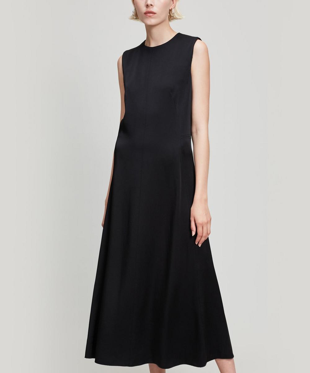 Fulton Long Crepe Satin Dress