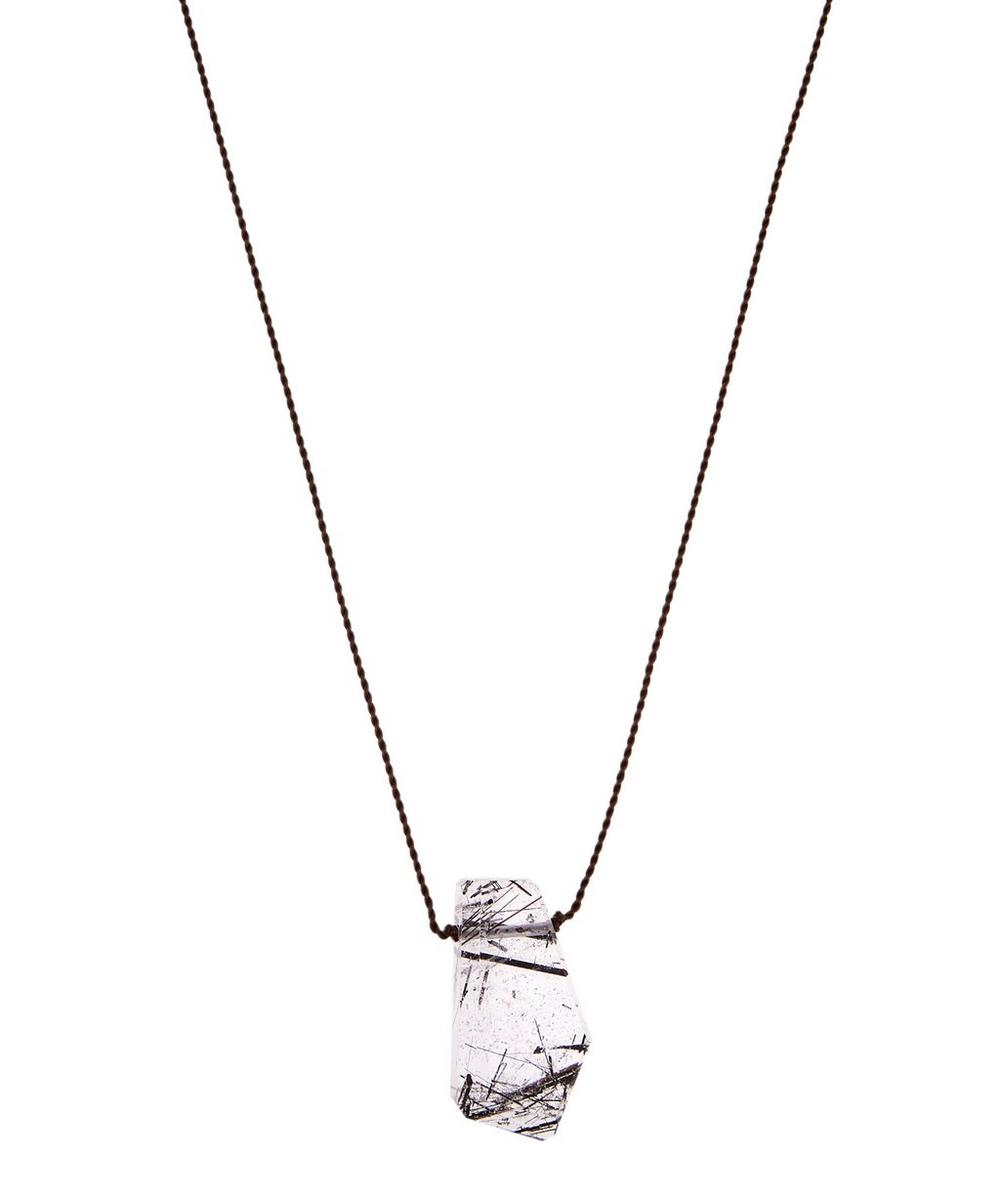 MARGARET SOLOW SILVER CLASP AMETHYST CORD NECKLACE