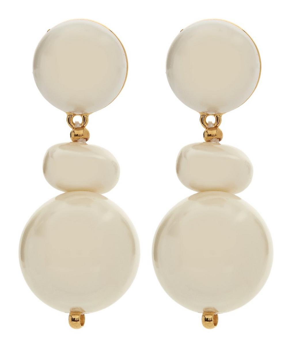 Howlite Pearl Pebble Drop Earrings