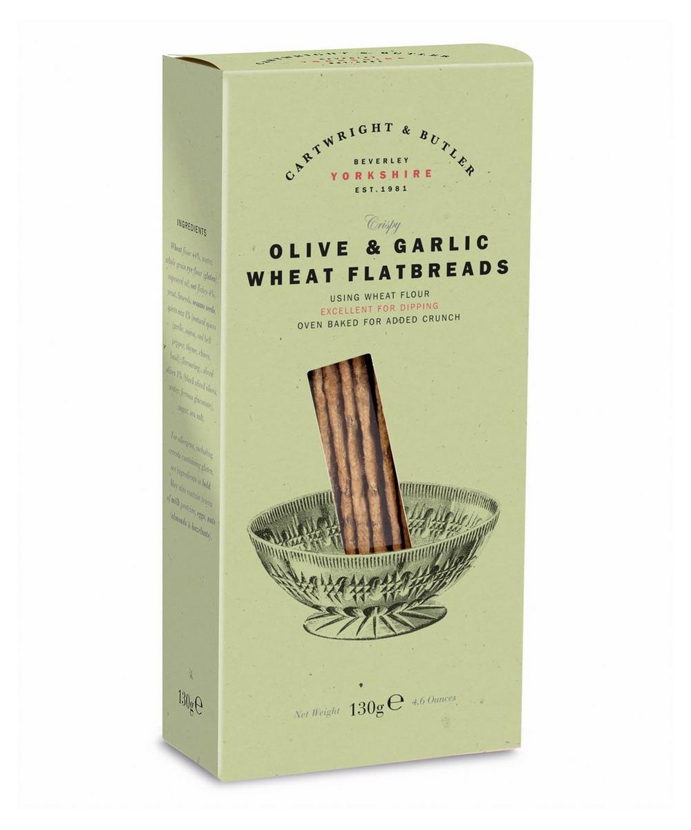 Crispy Olive & Garlic Wheat Flatbreads 130g