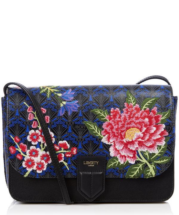 Elysian Paradise Embroidered Portland Cross-Body Bag