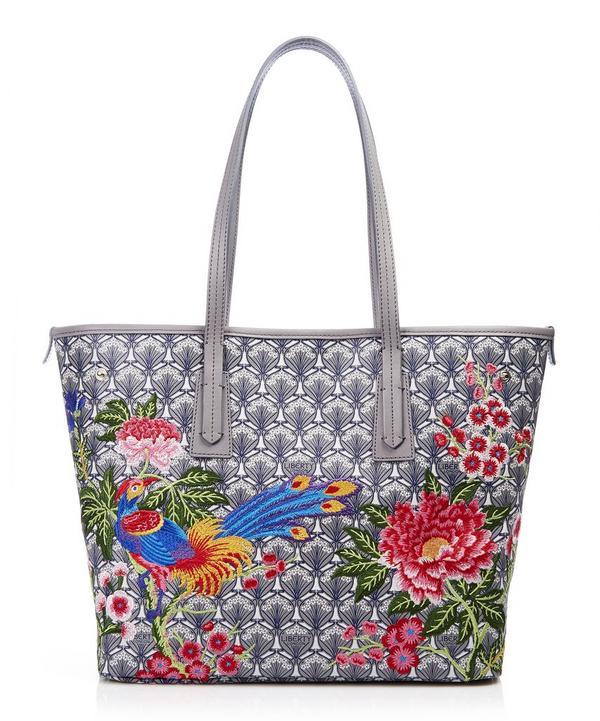 Elysian Paradise Embroidered Little Marlborough Tote Bag
