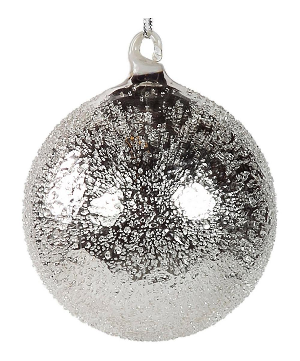 Glass Crackle Bauble