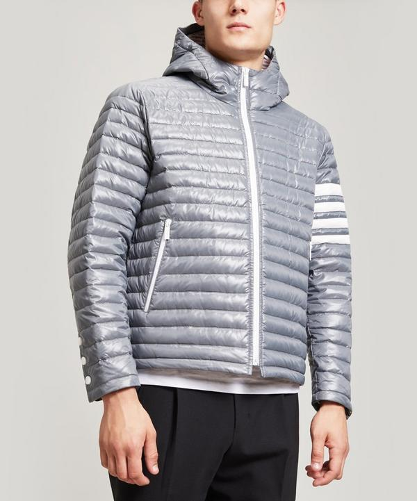 4-Bar Stripe Quilted Down-Filled Tech Jacket