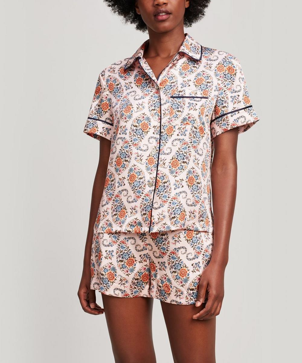 Florence Evelyn Silk Satin Short Pyjama Set