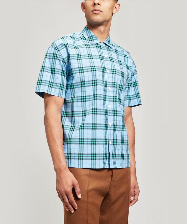 Short-Sleeve Check Cotton Shirt
