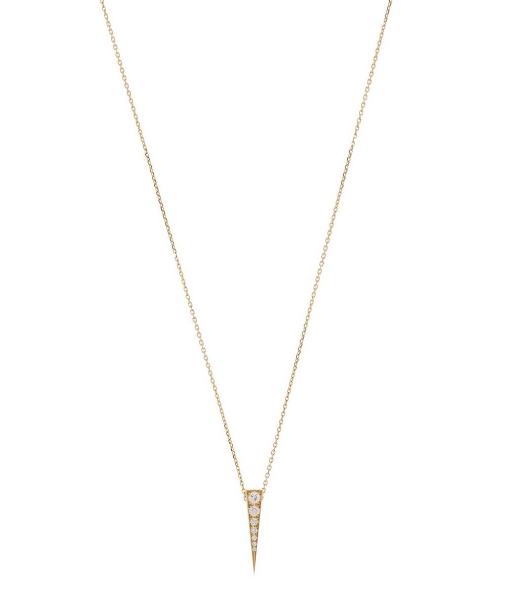 DAOU GOLD AND DIAMOND CONVERTIBLE SPARK PENDANT NECKLACE