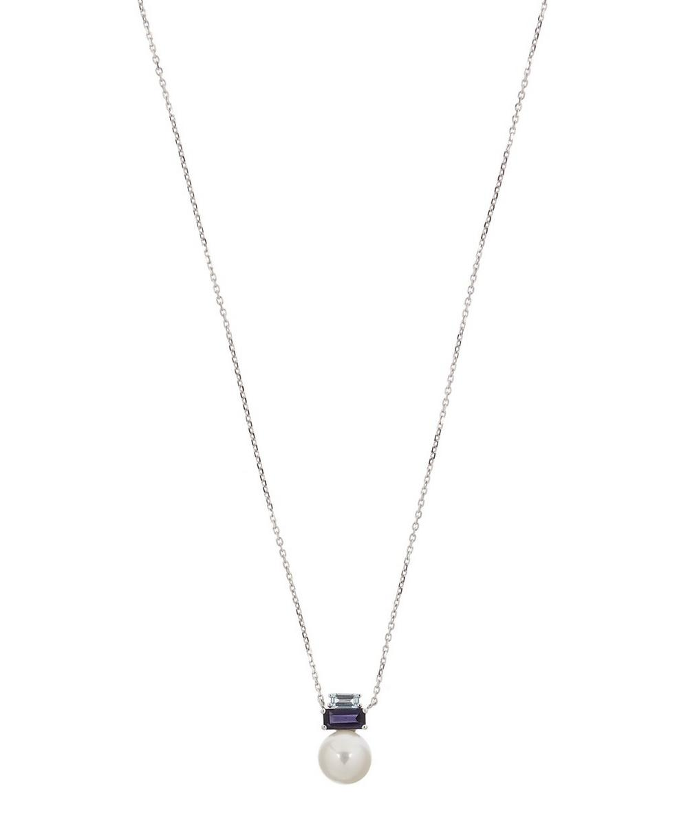 DAOU WHITE GOLD MORNING LIGHT PEARL PENDANT NECKLACE