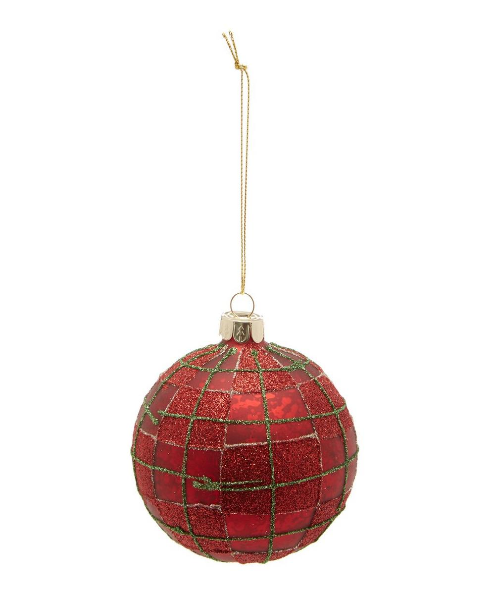 Red Check Bauble