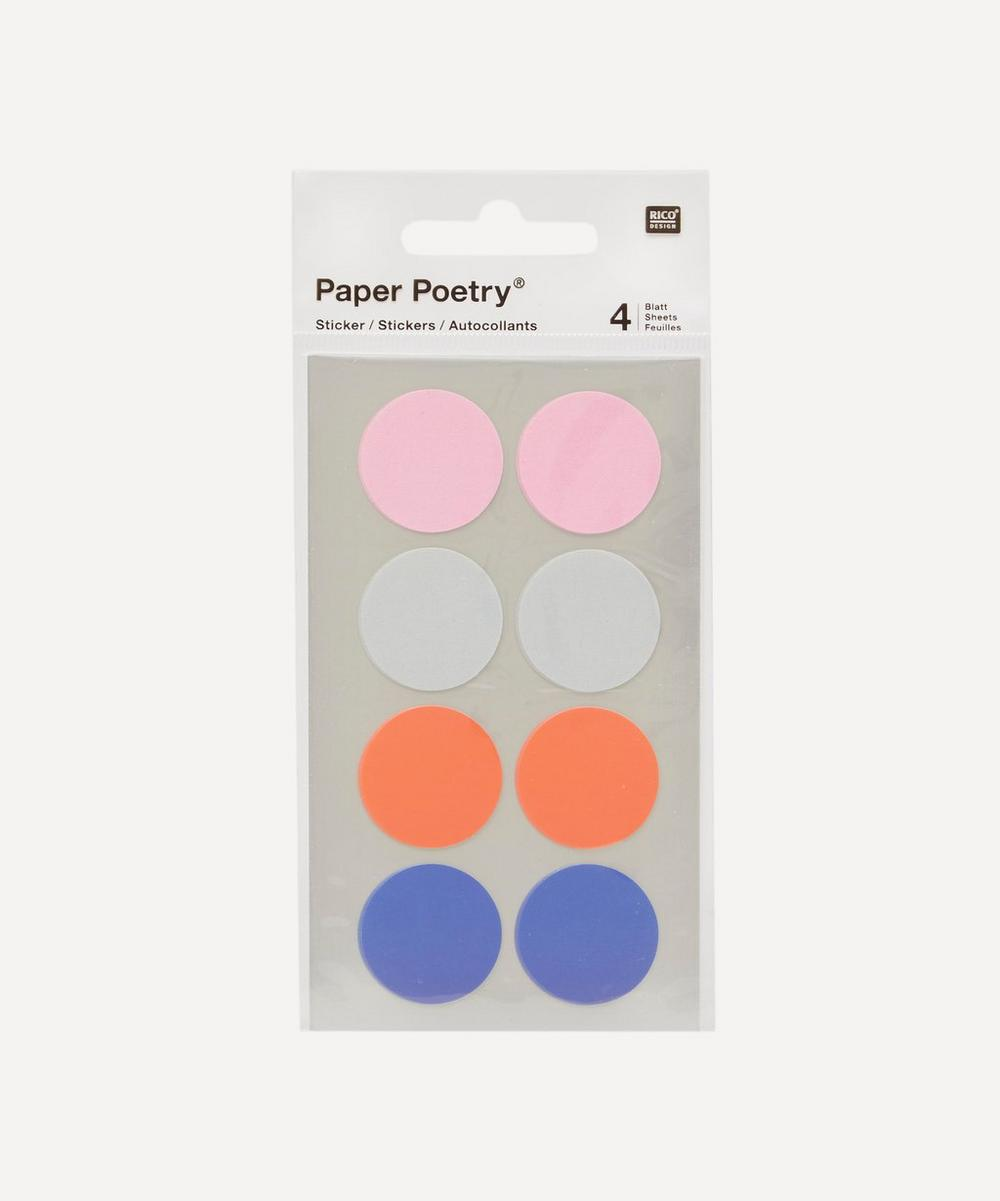 Paper Poetry Large Dots Office Stickers