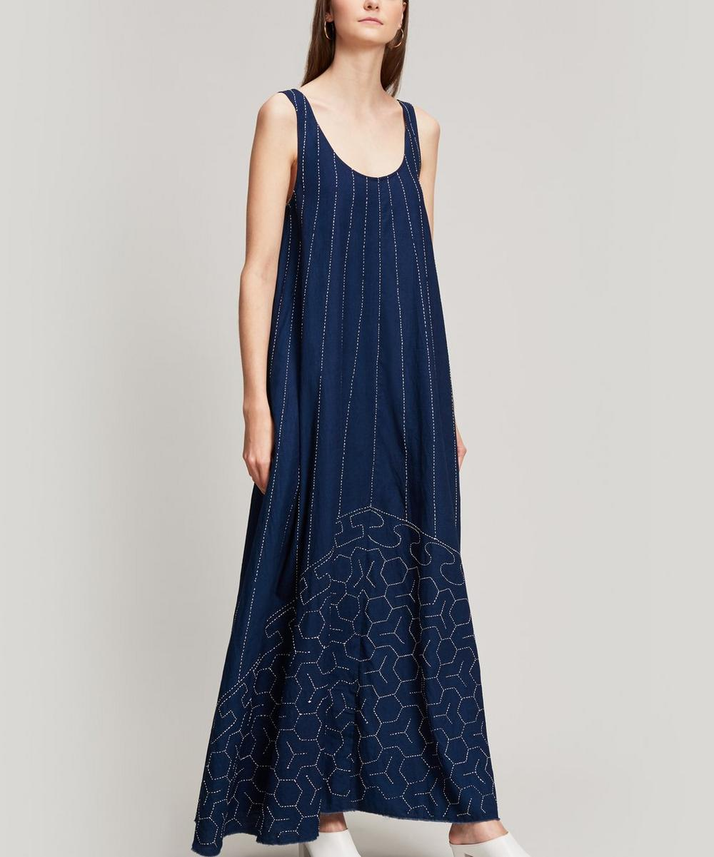Oasis Embroidered Cotton Maxi Dress