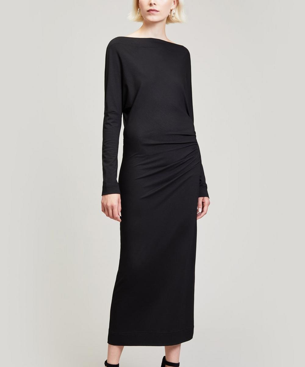 Draped Thigh Dress
