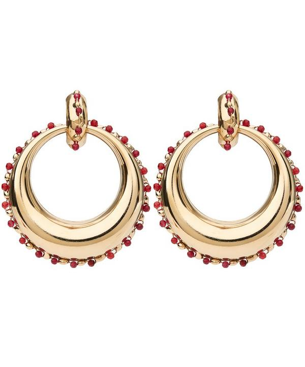 Passato Circle Drop Quartz-Edged Earrings