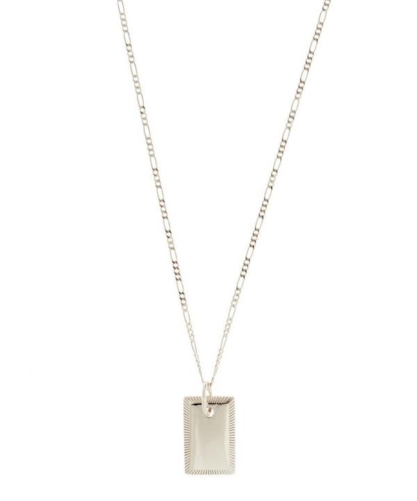 Eliza Rhodium Plated Rectangle Necklace