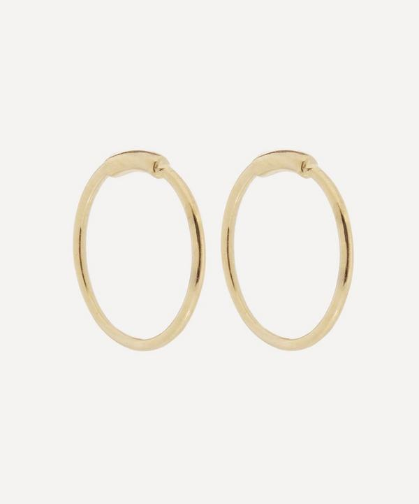 Gold-Plated Basic Hoop Earrings
