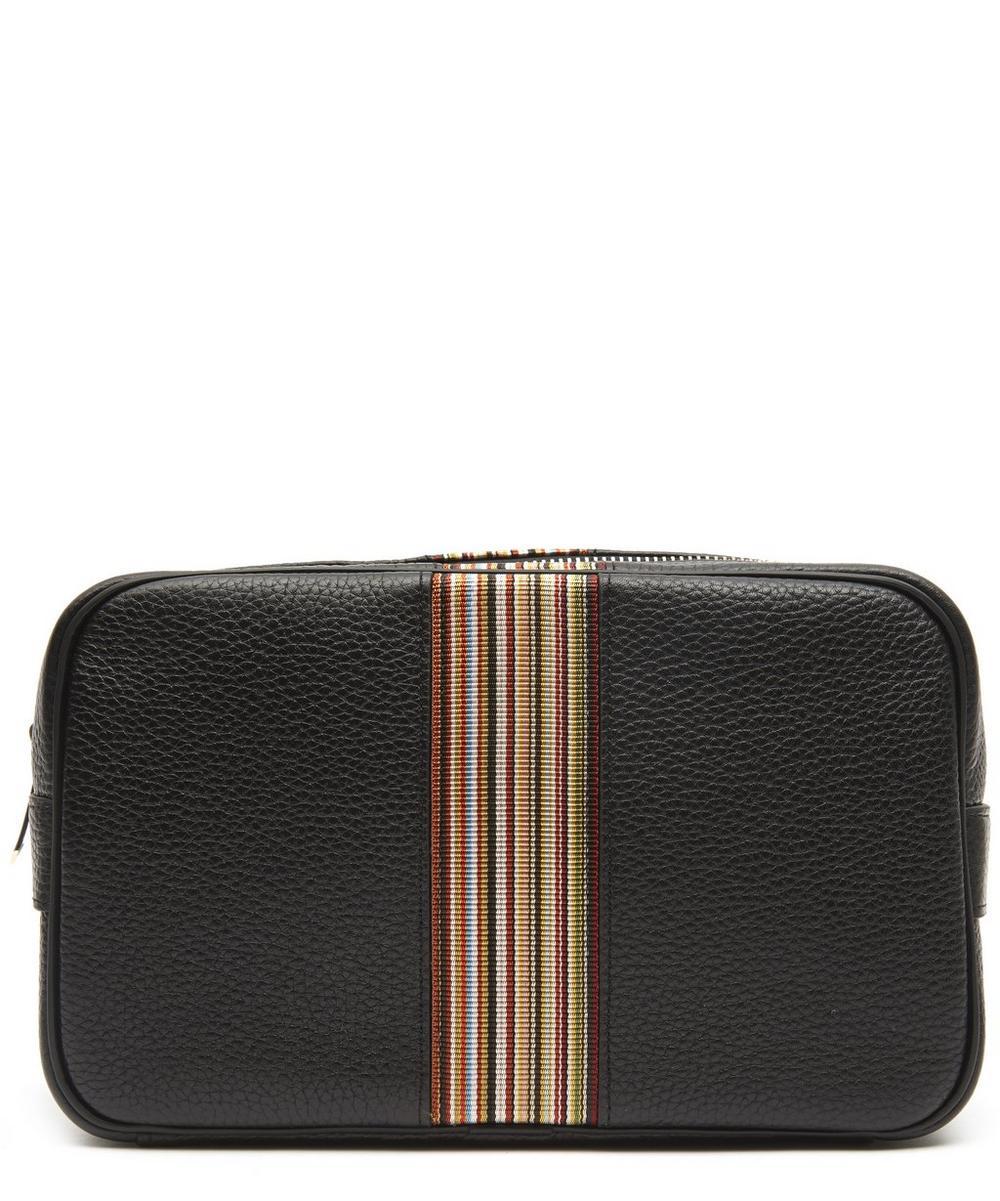 Leather Artist Stripe Washbag