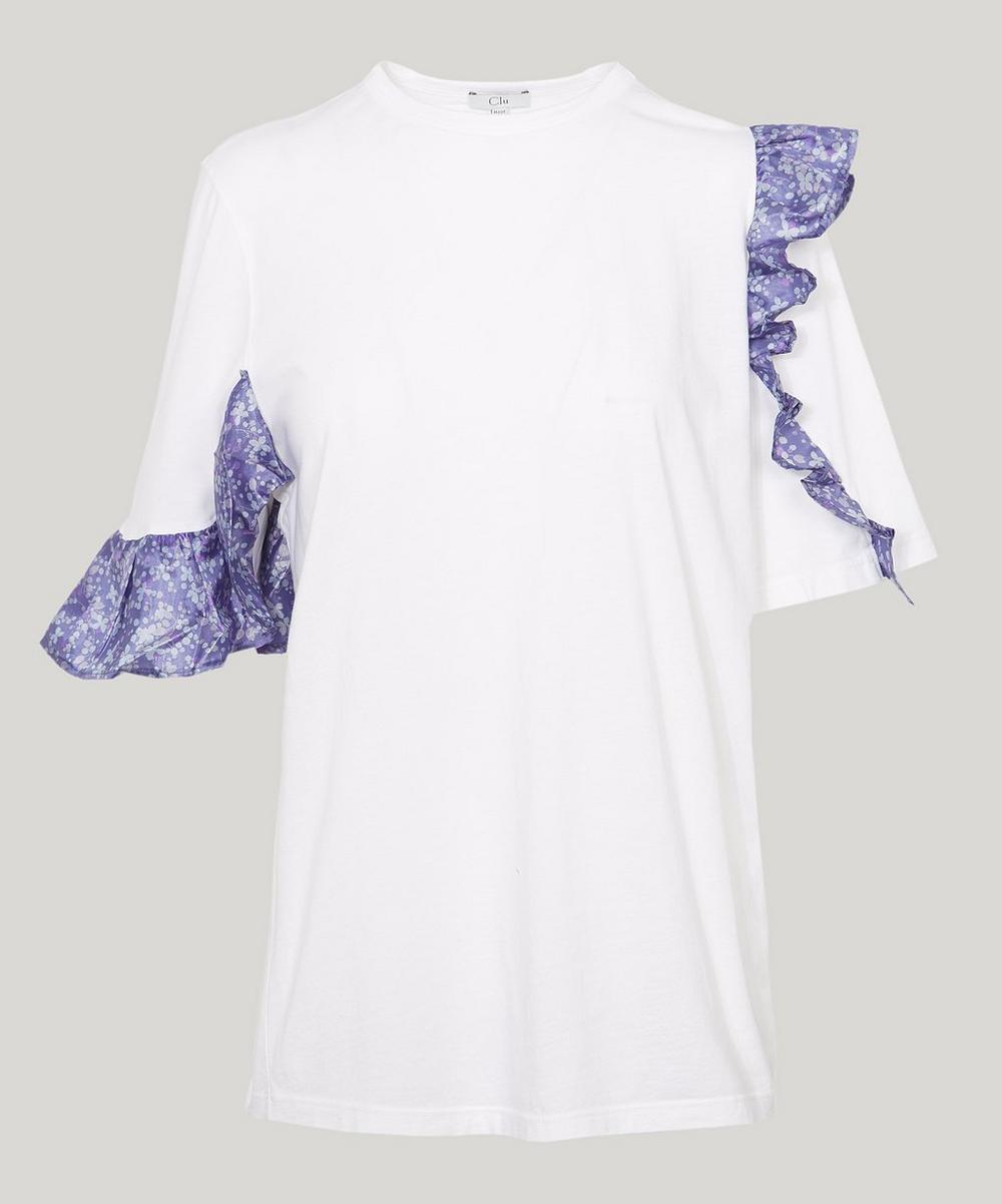 Floral Ruffle T-Shirt
