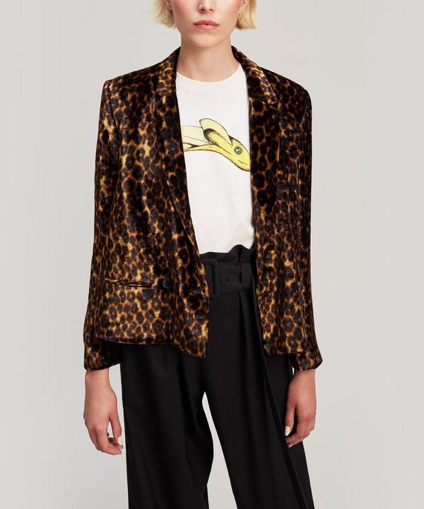 Franklin Velvet Leopard Print Blazer