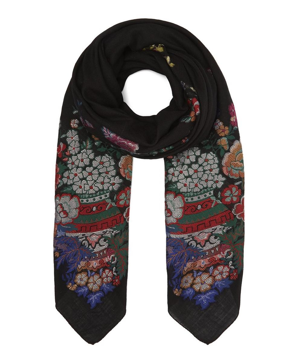 Bombay Floral Embroidered Shawl