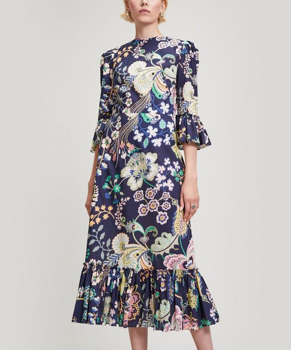 Falconetti Floral Silk Dress