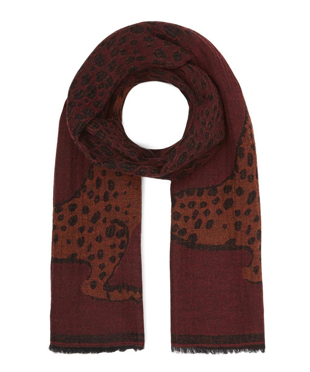 Lucy Leopard Print Wool-Blend Scarf