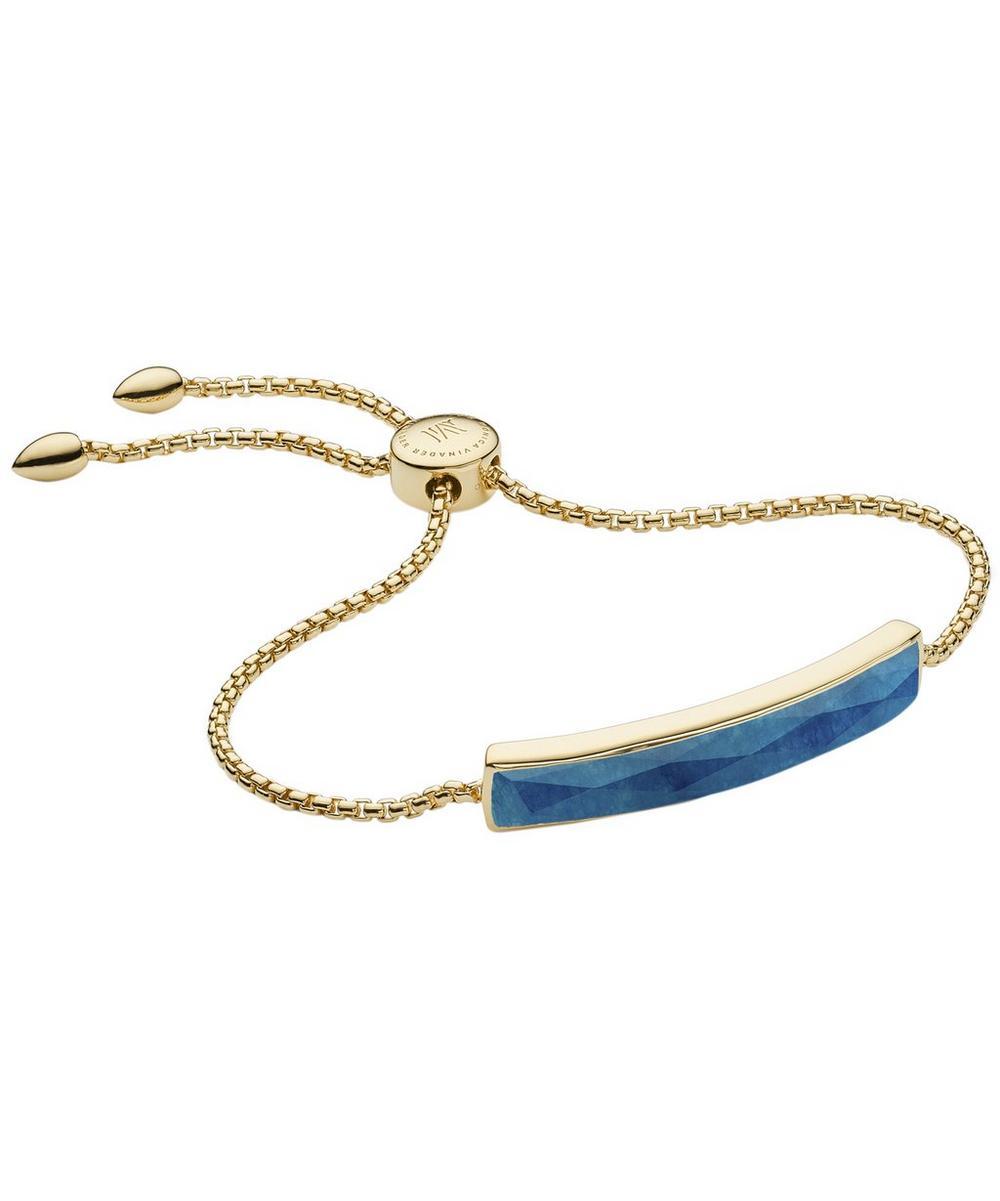 Gold Vermeil Baja Facet Blue Quartz Bracelet