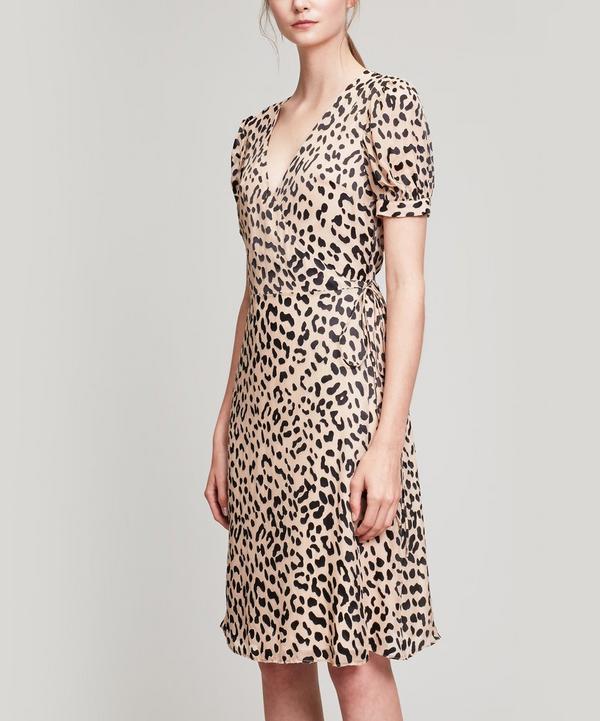 Rosette Wrap Dress