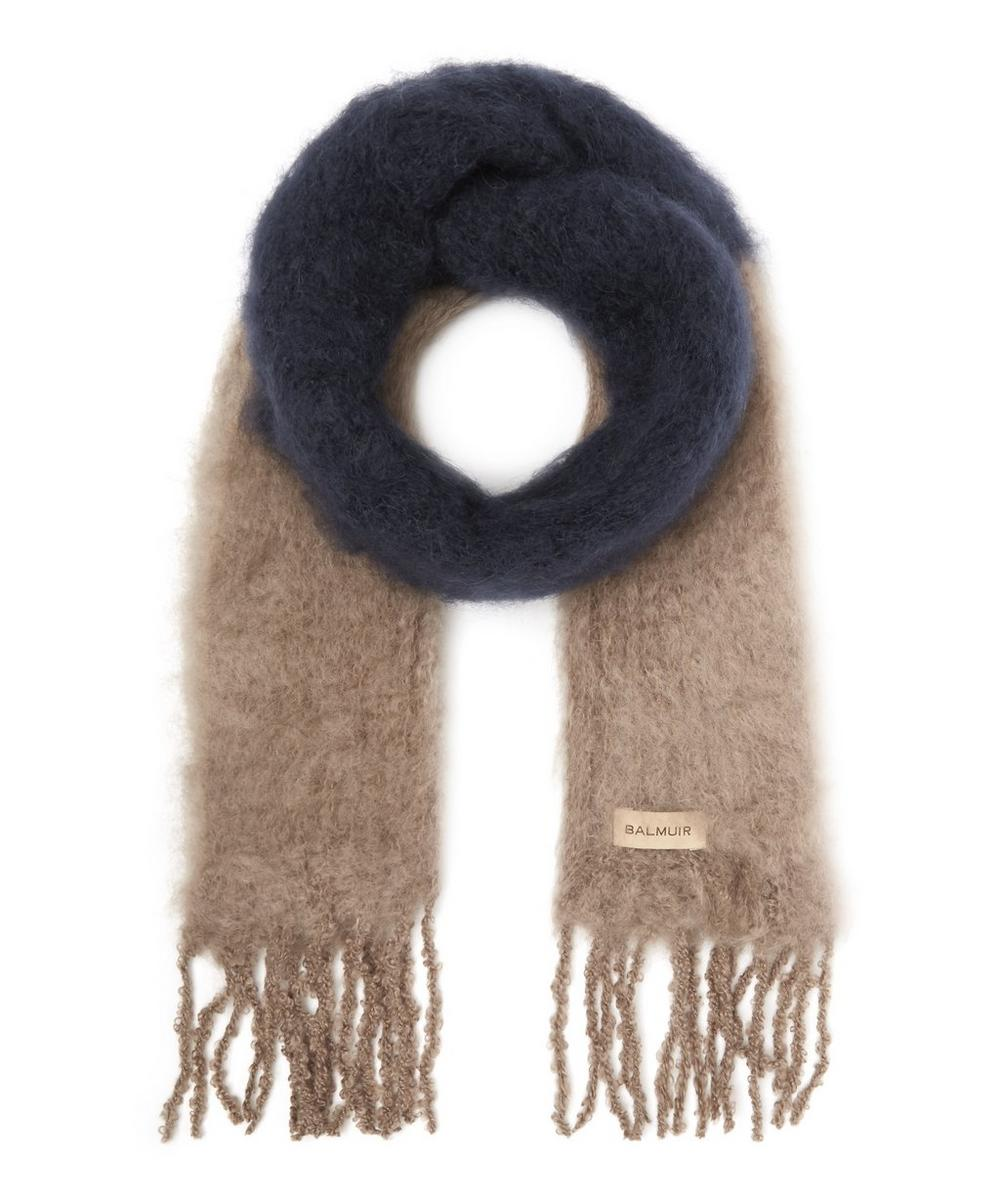 Kid Mohair Two-Tone Scarf