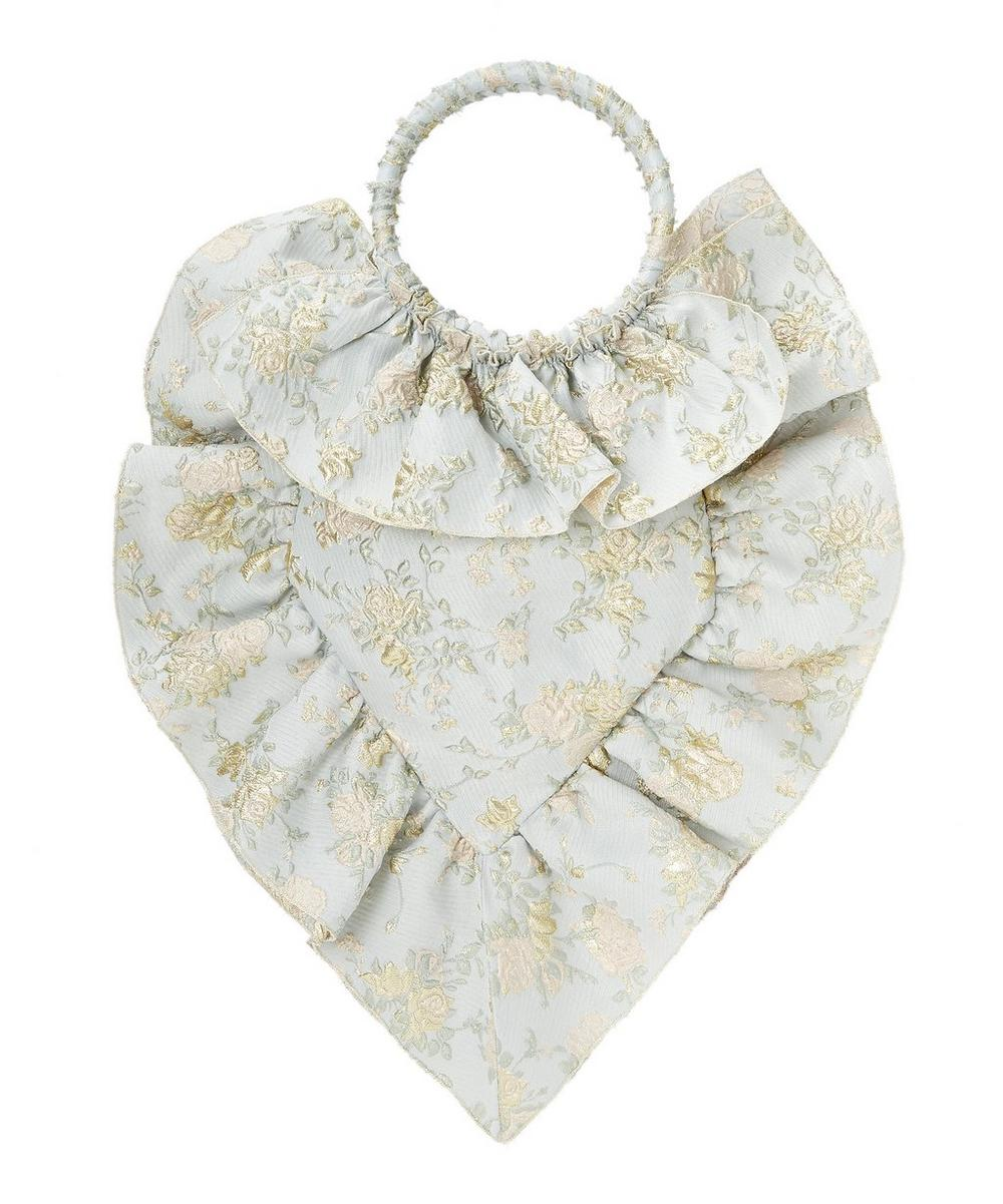 Metallic Jacquard Sacred Heart Bag