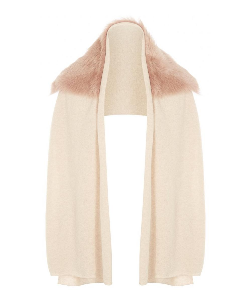 Knitted Cashmere Shearling Scarf