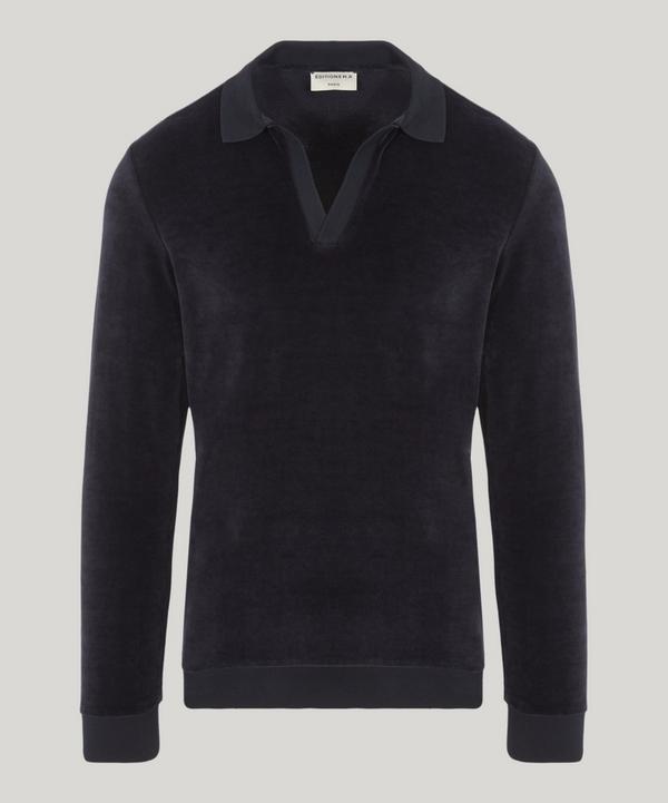 James Velvet Long-Sleeved Polo Shirt