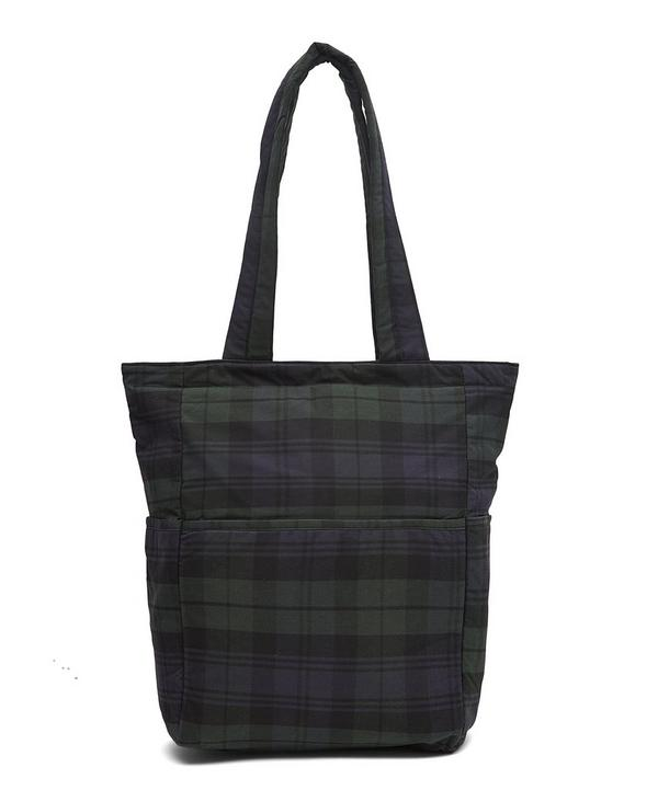 Bow Tartan Wax Cotton Tote Bag