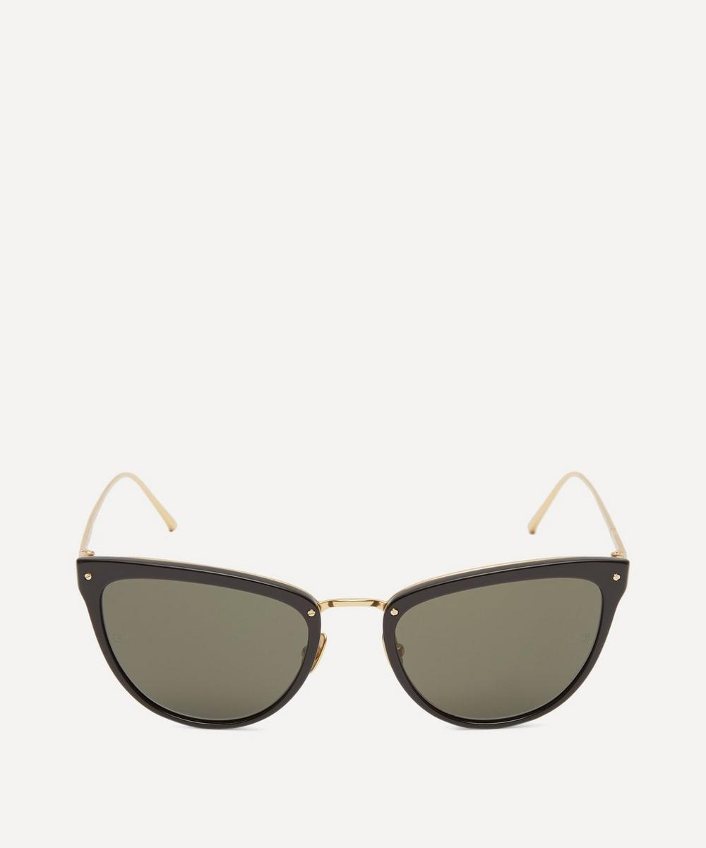 656 C1 Oversize Cat Eye Sunglasses