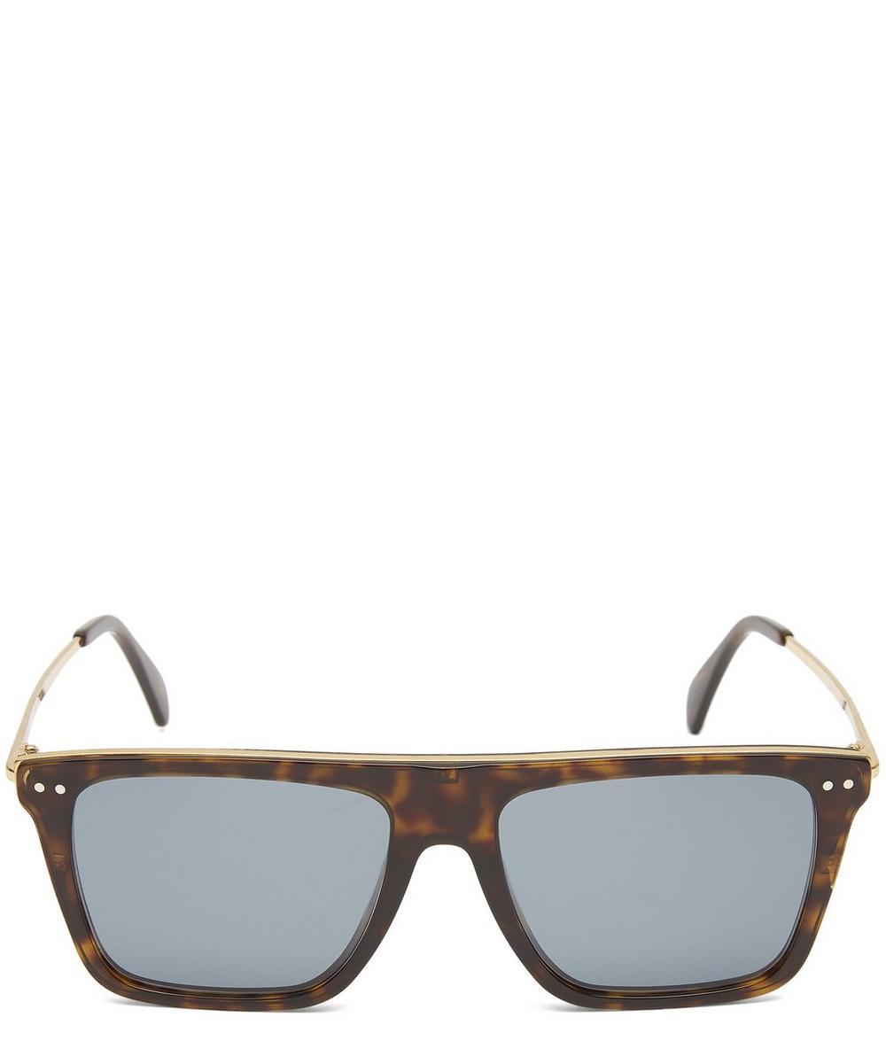 Flat Top Square Metal Sunglasses