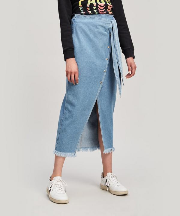 Wrap Front Pencil Skirt