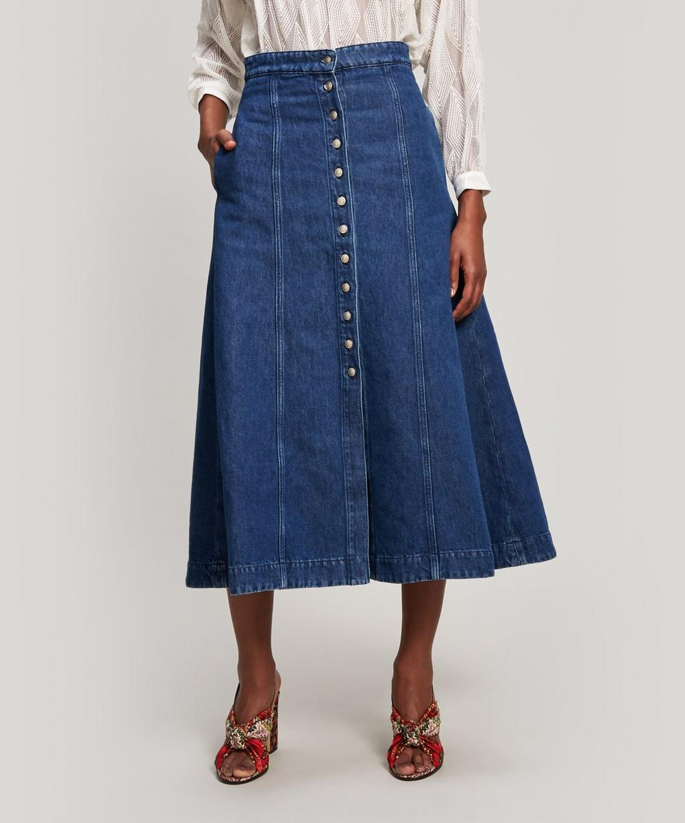 Voluminous Denim Skirt